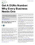 Get A DUNs Number: Why Every Business Needs One