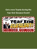 Get a New Toyota During The Year End Closeout Event