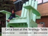 Get a Seat at the Strategy Table - WebVisions 2011
