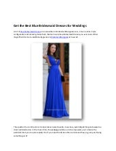 Get the best blue bridesmaid dresses for weddings