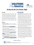 Getting Health Care Reform Right