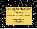 Getting Started with Meteor