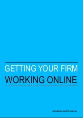 Getting your firm working online   ...