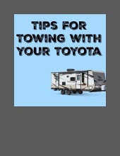 Get Toyota service tips for towing!