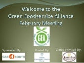 Green Foodservice Alliance February...