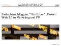 "Zwitschern, bloggen, ""YouTuben"", Poken - Web 2.0 in Marketing und PR"