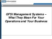 GFSI  Management Systems- What They...
