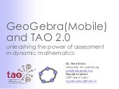 TAO DAYS - GeoGebra and TAO 2.0 by ...