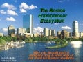The Boston Entrepreneur Ecosystem: Presentation at Northeastern University
