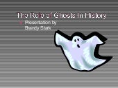 Ghosts In History