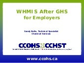 WHMIS After GHS for Employers
