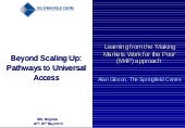 Beyond Scaling Up: Making markets w...