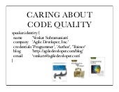 Caring about Code Quality