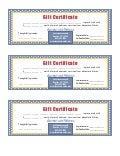 Gift Certificate For Cash Sum