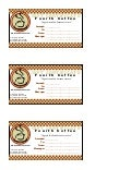 Gift Certificate For Cash Sum With Message