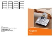 Gigaset e365 telephone user guide