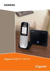 Gigaset s675 ip s685ip telephone us...