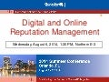 Digital and Online Reputation Management