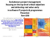 Project management driven by the top ten critical improvements qu…