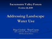 Addressing Landscape Water Use