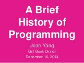 A Brief History of Programming