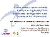 GIS Data Visualization to Optimize the Family Planning Supply Chain Performance in Bangladesh: Initial Experience and Opportunities