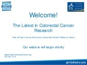 The Latest in Colorectal Cancer Res...