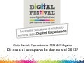 Giulia Faccioli - Di cosa si occupano le donne nel 2013? - Digital for Job