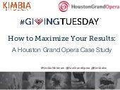 How to Maximize Your #GivingTuesday Results: A Houston Grand Opera Case Study