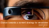Towards A Content Strategy for Wearables