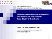 Global Environmental Governance and...