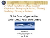 Global Growth Opportunities To 2030...