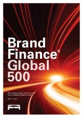 Global 500 brands by finance and br...
