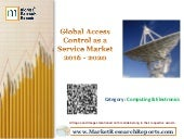 Global Access Control as a Service Market 2016 - 2020