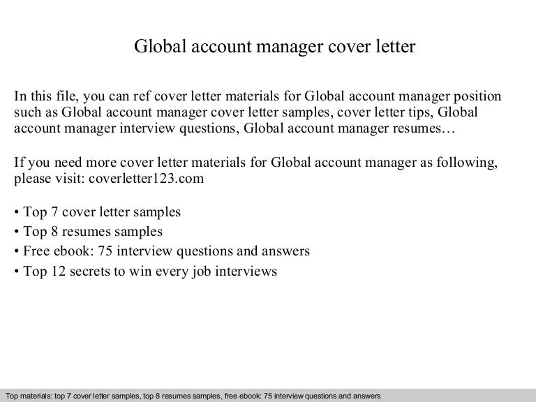 account manager cover letter account manager cv template sample ...