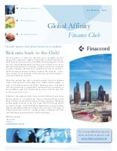 Global affinity finance club autumn...
