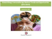 Global Allergy Immunotherapy Market: Trends & Opportunities (2015-2019) - New Report by Daedal Research