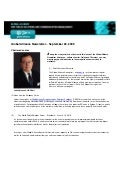 Global Alliance Newsletter Number 9 September 22, 2009