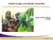 Global Hunger And Gender Inequality