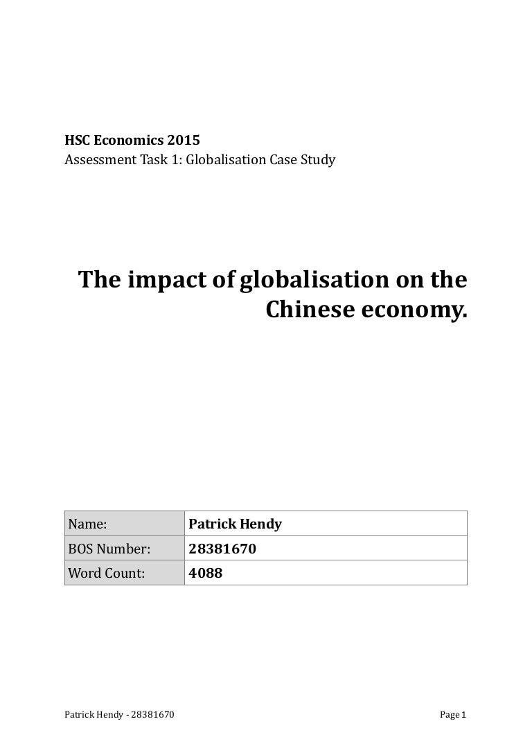 china   globalisation essay