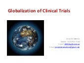 Globalization Of Clinical Trials 20...