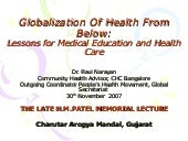 Globalization Of Health From Below:...