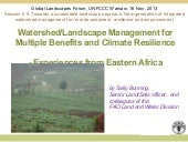 Watershed/Landscape Management for ...