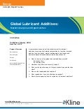 Global Lubricant Additives: Market Analysis and Opportunities
