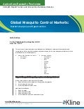 Global Mosquito Control Markets - Brochure