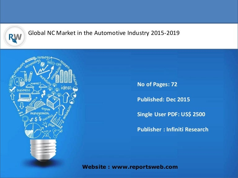 Worldwide NC Market in the Automotive Industry 2015 Overview
