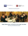 Global observations on the role of the audit committee