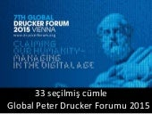 Global Peter Drucker Forumu 2015