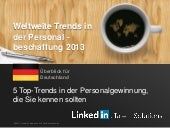 Germany Global Recruiting Trends 2013 | German