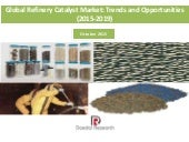 Global Refinery Catalyst Market: Trends and Opportunities (2015-2019) - New Report by Daedal Research